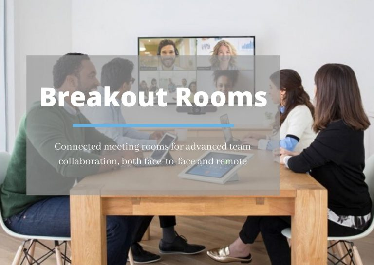 Breakout Rooms: connected meeting rooms for advanced team collaboration, both face-to-face and remote
