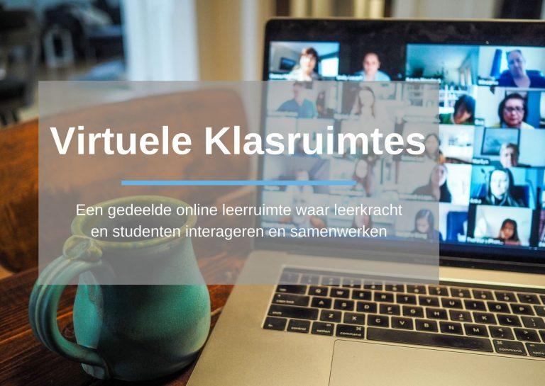 Virtuele klasruimtes: Een gedeelde online leerruimte waar leerkracht en studenten interageren en samenwerken